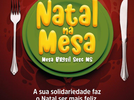 Mesa Brasil Sesc faz campanha para garantir ceia natalina a famílias carentes