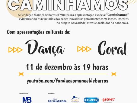 Para idosos: Fundação Manoel de Barros realiza Live do projeto Ativa Idade nesta sexta (11)