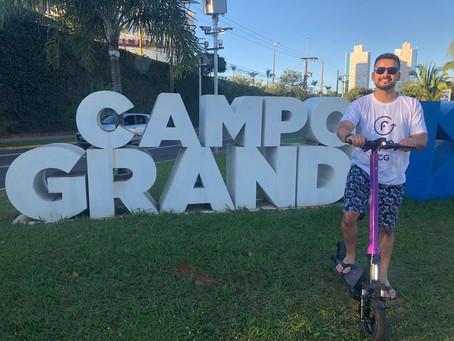 Os patinetes elétricos chegaram a  Campo Grande!