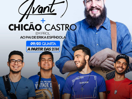 Show Beneficente com banda Avant e Chicão Castro, em prol de pai de cantora, acontece amanhã (09)