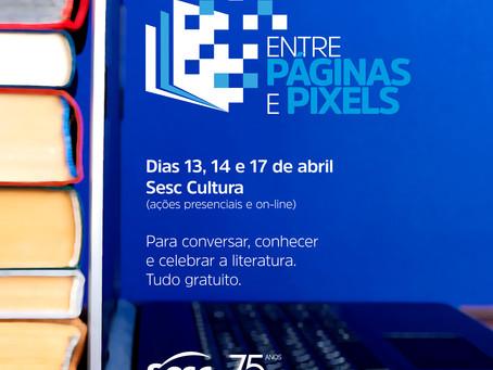 """Sesc Cultura terá circuito """"Entre páginas e pixels'' para celebrar o Dia do Livro"""
