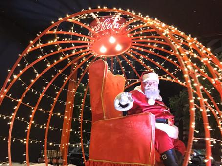 Caravana Coca-Cola com Papai Noel visita Shopping Campo Grande