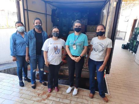 Programa Mesa Brasil Sesc recebe 4 toneladas de alimentos da CONAB