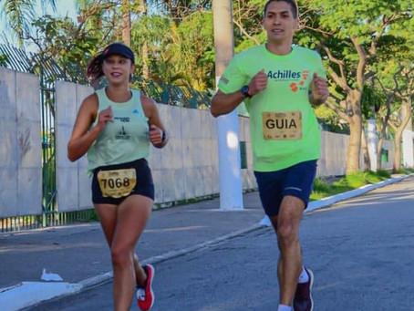 Pela 1ª vez na prova 21k, em Bonito, atleta paralímpica treina para alcançar índice para Tókio