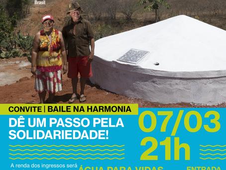 """Voluntária promove baile para o projeto """"Água para Vidas"""""""