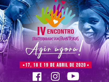 Organização decide realizar IV Encontro Fraternidade sem Fronteiras via transmissão online