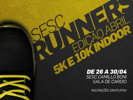 2ª Circuito Sesc Runners acontece de 26 e 30 de abril