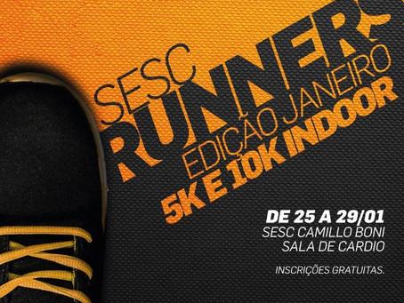 Sesc Runners terá corridas indoor de 5km e 10 km