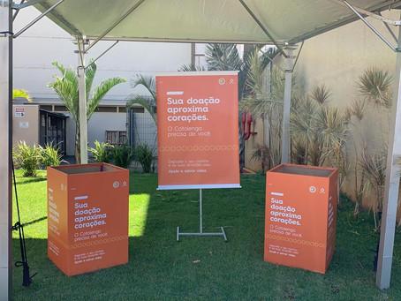 Shopping Campo Grande monta tenda para receber doações de alimentos e itens de higiene