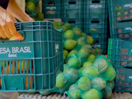 Mesa Brasil Sesc distribuiu 134 toneladas de alimentos em fevereiro