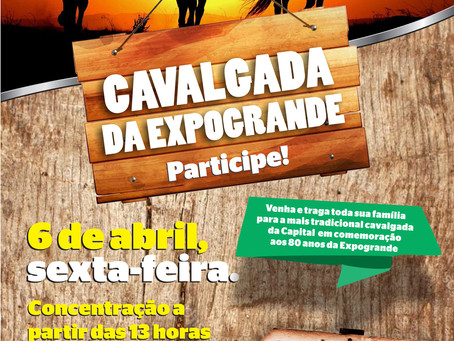 Acrissul promove no dia 6 de abril a tradicional cavalgada da Expogrande