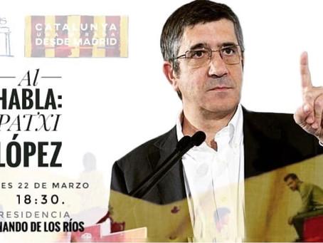 Comunicado Oficial Cancelación Acto Patxi López