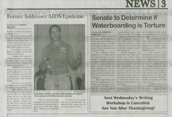 Speaking at Howard University 2008 HIV/AIDS Awareness Event