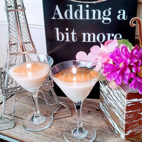 Martini Glass - Love Ballad Massage Oil Candle