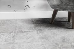 Fugenloser Boden mit Schablonen