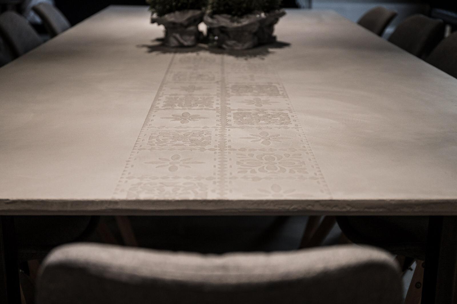Beschichtung der Tischplatte