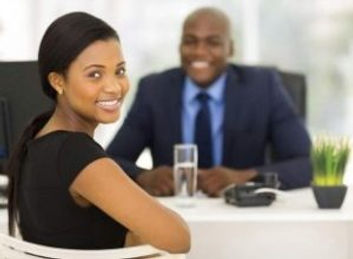 black woman sitting with black man at jo