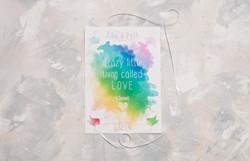 Watercolour Rainbow Wedding Invite