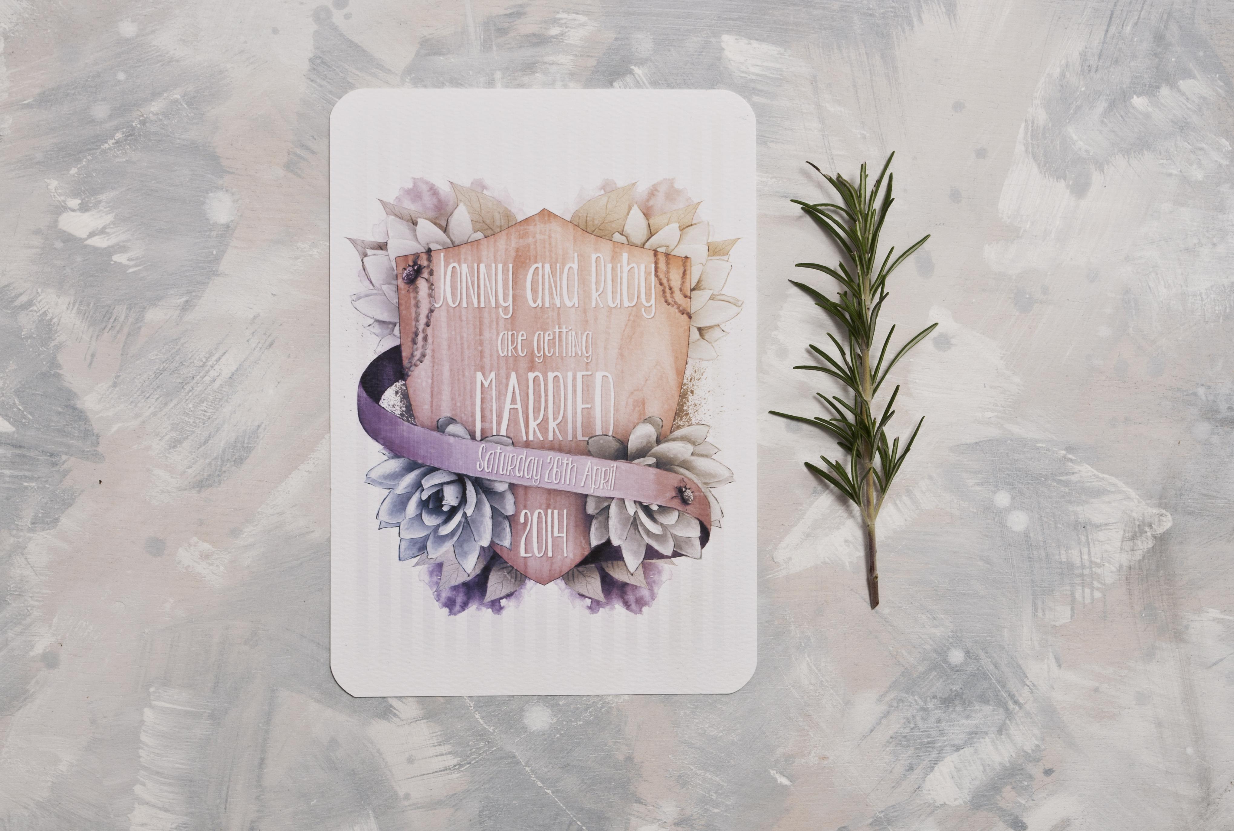 Shield & Succulent Invitation