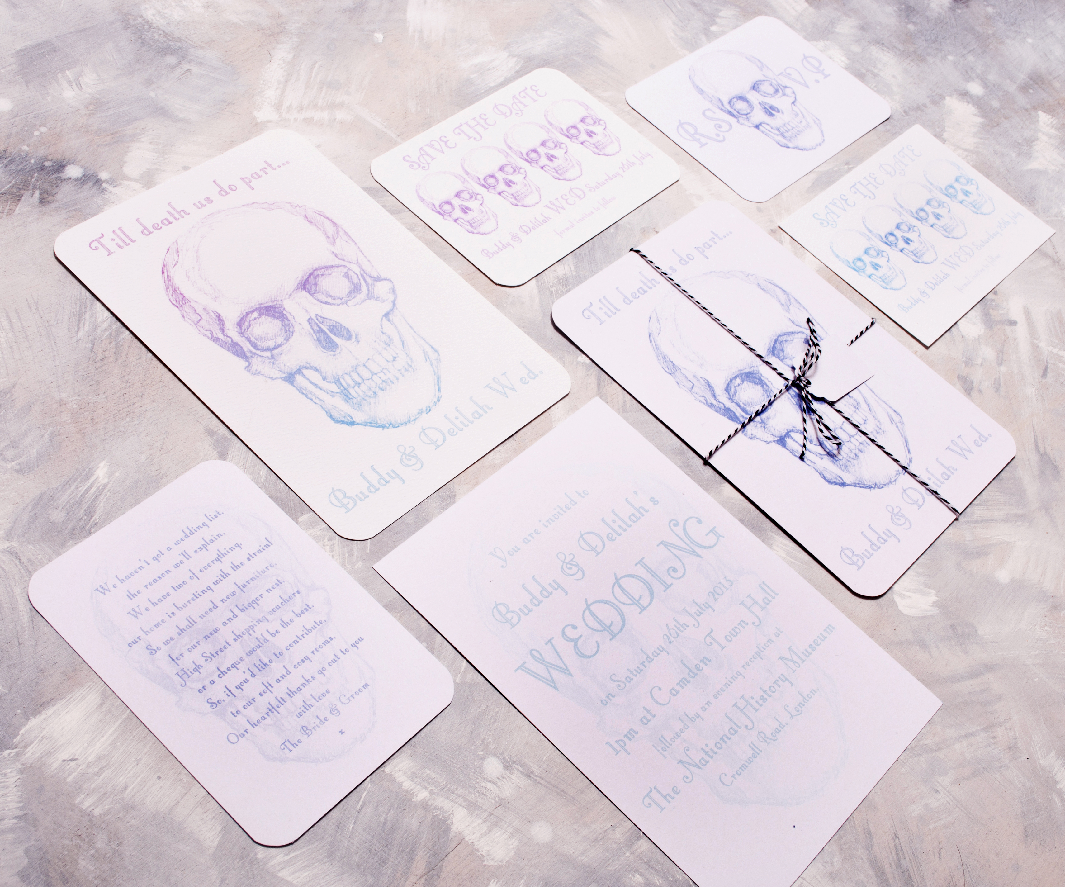 Skull Wedding Stationery