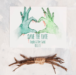 Romantic Zombie Save The Dates
