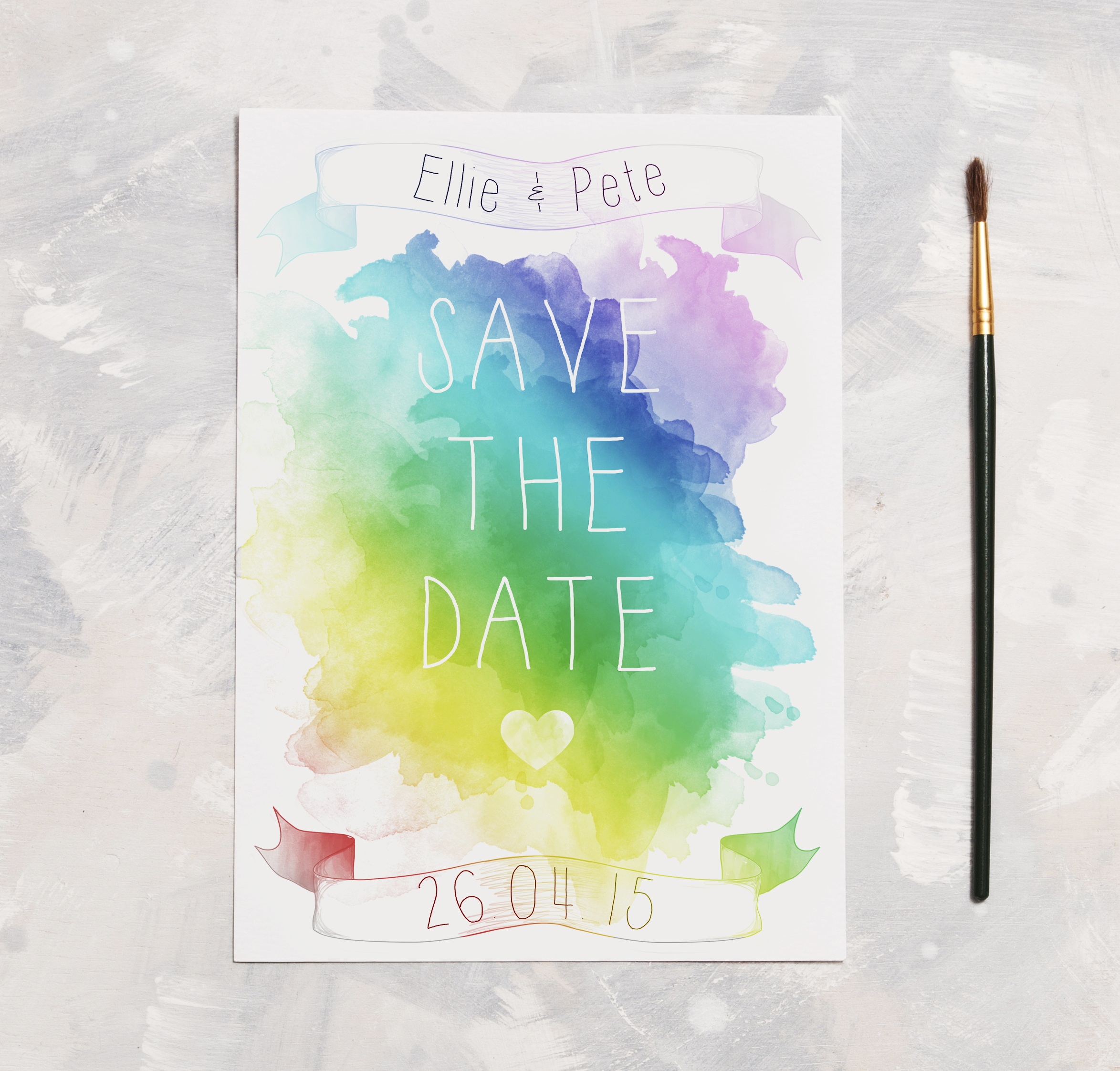 Watercolour Lyric Save The Date