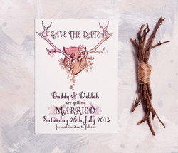 Autumnal Antlers Save The Date