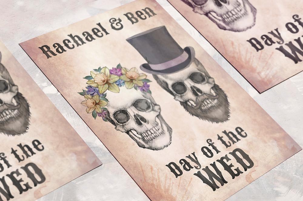 Wedding themes - wedding theme guide - wedding invitations - wedding stationery - day of the dead wedding - skull wedding invitations