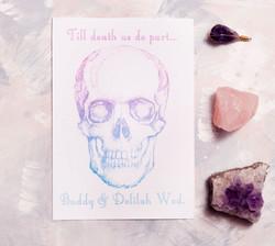 Skull Invitation in Ombre