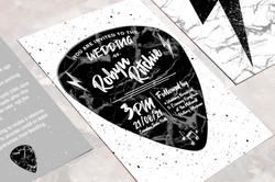 Plectrum Inspired Wedding Invitation