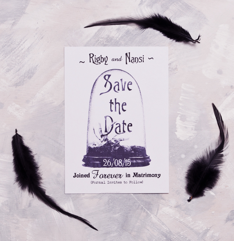Raven Taxidermy Save The Date