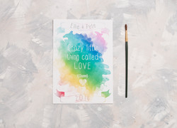 Watercolour Lyric Wedding Invitation