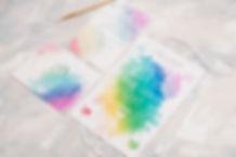 cool wedding invitations - watercolour wedding invitations
