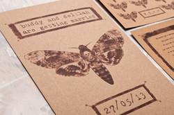 Death's Head Hawk Moth Invitations