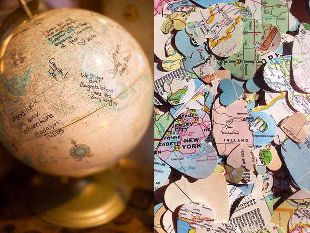 travel wedding theme - travel wedding - wedding theme - confetti