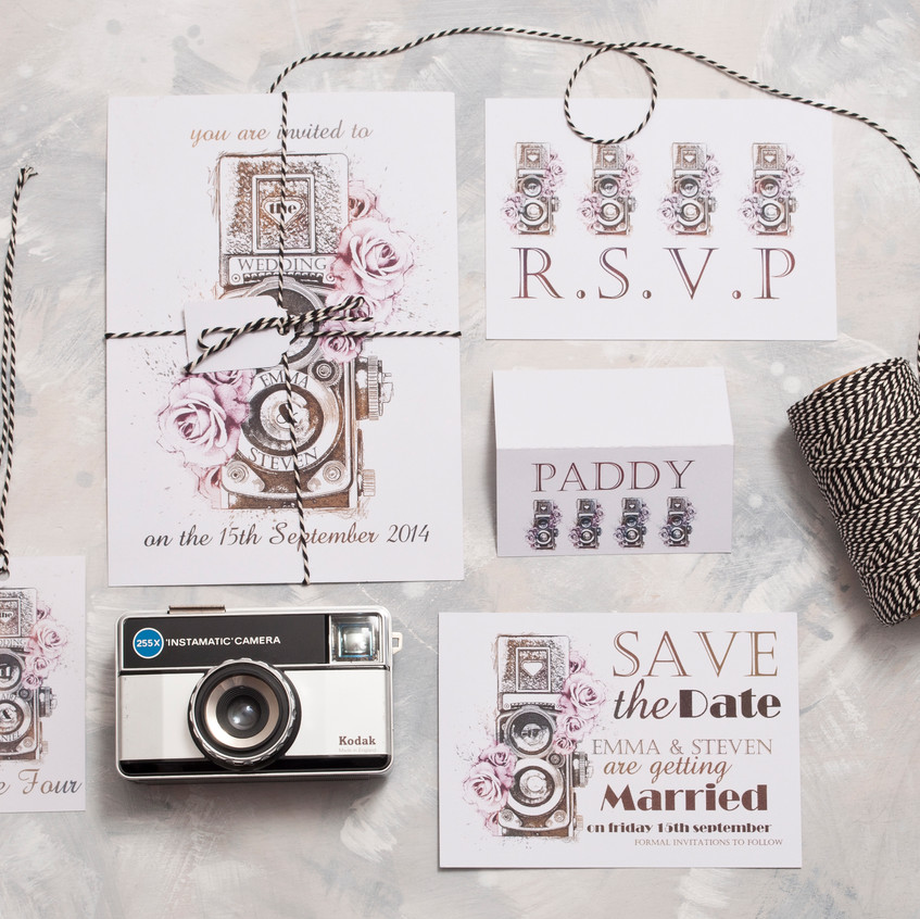 Vintage Camera Wedding Stationery