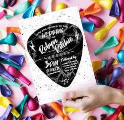 Love Rocks Wedding Invitation Back