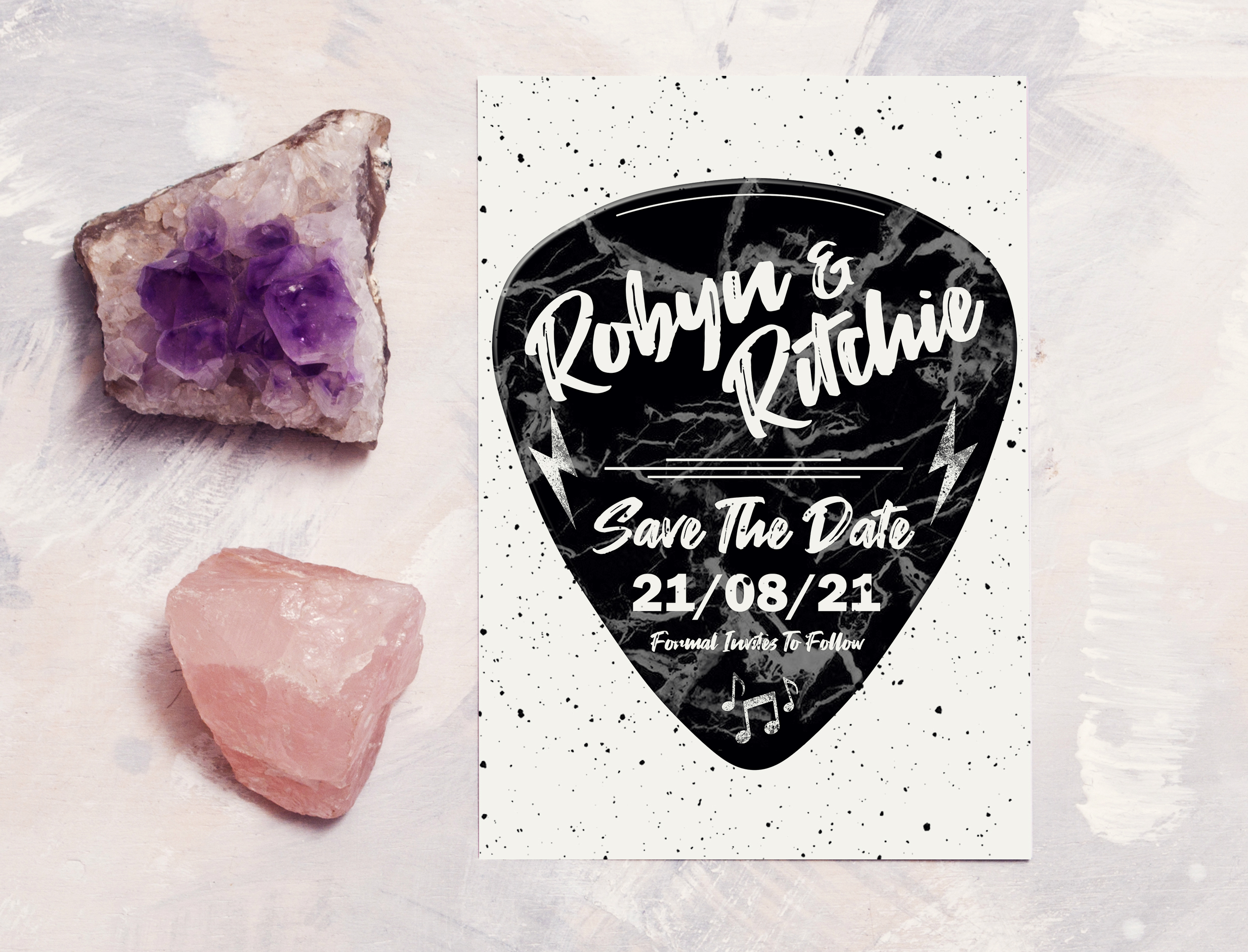Love Rocks Save The Date