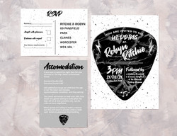 Music Theme Invite, RSVP & Info Card
