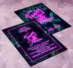 Tropical Neon Full Invitation.
