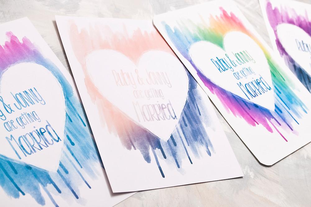 Wedding themes - wedding theme guide - watercolour wedding invitations