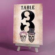 Day Of The Wed Table Number