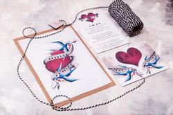 Tattoo Inspired Full Invite Suite