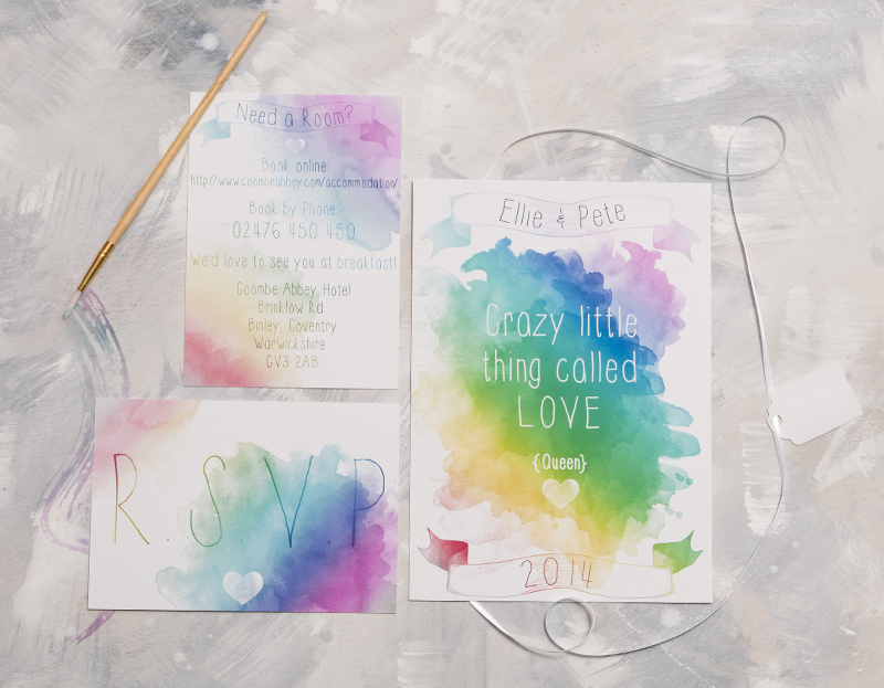 Watercolour Lyric Full Invite Suite