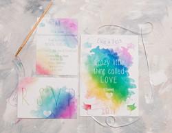 Watercolour Lyric Full Invite Suite