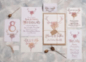 rustic wedding invitations - the autum nal antler range