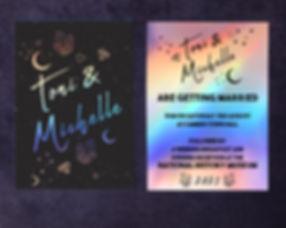 rainbow wedding invitaton, LGBT wedding invitation