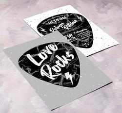 Love Rocks Invitation Front & Back