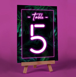 Tropical Palm Table Number