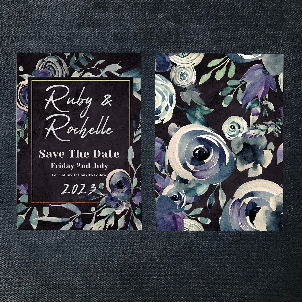 Gothic save the date